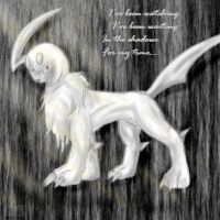 Absol sketch for Vye Brante by Blue-Uncia