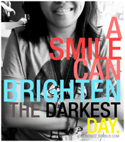 Smile can brighten the day by divzz