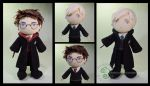 Harry Potter and Draco Malfoy by pheleon