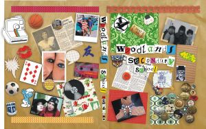 SCRAPBOOK yearbook cover by mysteriousartist