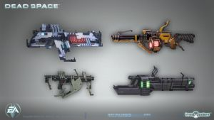 Dead Space - Machine gun concepts by shirik