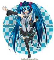 Hatsune Miku Colored by AppleRawr27