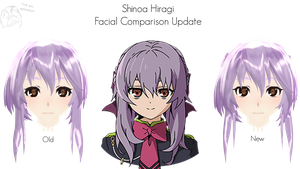 Shinoa Hiragii Facial Comparion 2 by RandomAnimeArtist