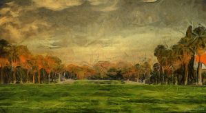 Golf Course by Jessica-Art