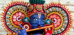 Paper Quilled 3D Lord Krishna-face view by VaishaliRastogi