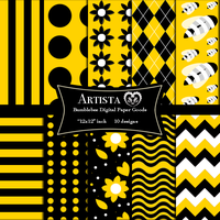 Bumble bee Digital Paper Goods Commercial Papers by artistaq8