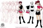 Comission: Xakitz outfit evolution 2004 by andreshanti