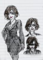 OUAT Sketches - Regina by Cruzerchic123