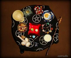 Pagan Alter  Imbolc by Estruda