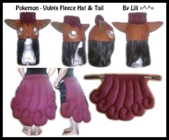 1st Gen - Vulpix Fleece Hat and Tail by LiliNeko
