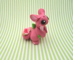 Pink Rose Dragon by KriannaCrafts