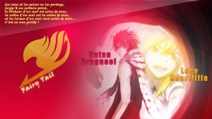 Natsu Lucy Fairy Tail Wallpaper by SaenyanEin