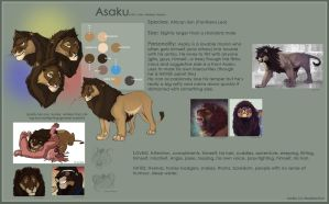 Reference: Asaku by BearlyFeline