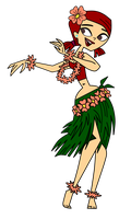 TDRI Hula Zoey (Vector) by 100latino