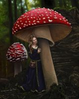 The Girl Under the Mushroom by Garylovelace