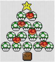 Nintendo xmas xstitch pattern by NurseTab