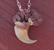Copper SunRise Lion Claw Pendant and Necklace by MorRokko