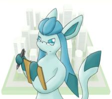 Secretary Glaceon by asdfg21
