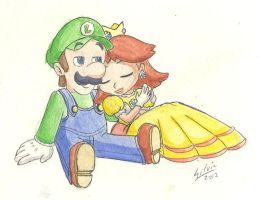 Luigi and Daisy - Relax by WildGirl91
