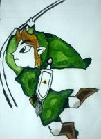 Toon Link in Watercolour by dude446