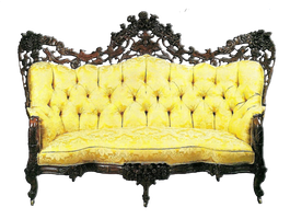 Yellow antique sofa by jinifur
