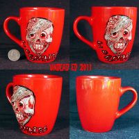 I love Zombies deluxe Mug ooak by Undead-Art