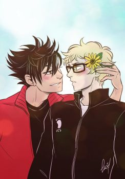 tsuki you'd be so pretty with flowers in your hair by llllucid
