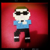 psy gangnam style perler bead by songinthesnow