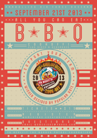 WHS BBQ Cook-Off Poster by RicGrayDesign