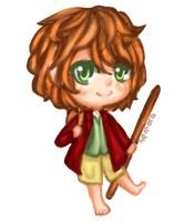 The Hobbit - Bilbo Painted Chibi~ by NemoraFarraige