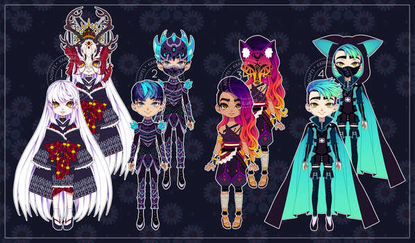 Masked Adopts Auction (closed) by Kariosa-Adopts