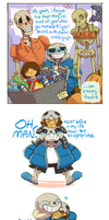 sans has a good halloween by SabreBash