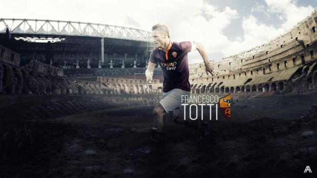 Francesco Totti Wallpaper (AS Roma) by AlbertGFX