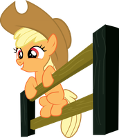 Apple Bloom as Applejack by Jdueler11