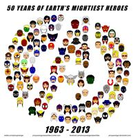 50 Years of Earth's Mightiest Heroes by pinoyavenger