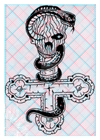 Book of Skulls for 3D specs Drawing II. by MADrussky