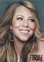 Mariah Carey Color Drawing 3 by riefra