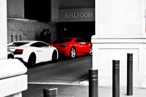 Lamborghini and Ferrari by RasmusJt