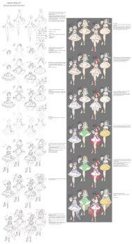 Design ''tutorial'' - Magical Girls by rika-dono