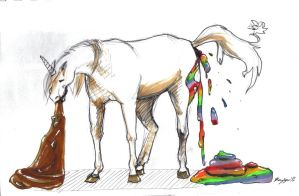This unicorn poops rainbows by kaylynh1