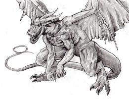 Fafnir, the Devil's Dragon by arvalis