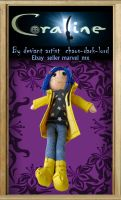 Coraline plush doll Coraline by chaos-dark-lord