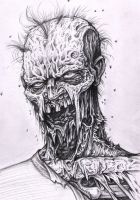 zombie sketch by tattoos-by-zip