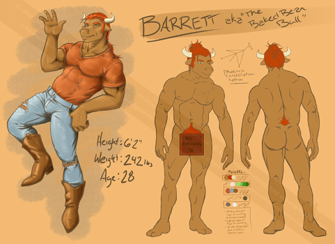 Baked Bean Bull - Final Concept/Character Sheet by the-peppermint-kid