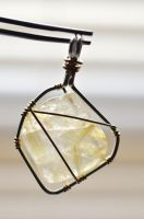 gold rutile pendant blF by lamorth-the-seeker