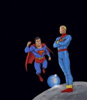 TLIID Superman and Miracleman/Marvelman by Nick-Perks