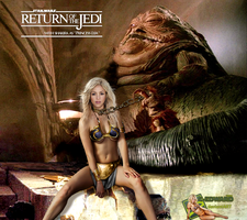 Shakira|Princess Leia Slave|Jabba The Hutt by c-edward