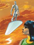 Silver Surfer and Shalla Bal by Symson