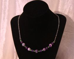 Purple and Green Ocean Jasper Necklace by Alicat59