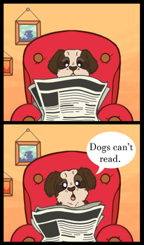 What Happens When Dogs Read by GhostLinx